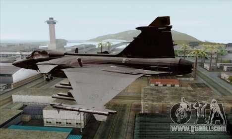 JAS-39 Gripen NG ACAH for GTA San Andreas left view