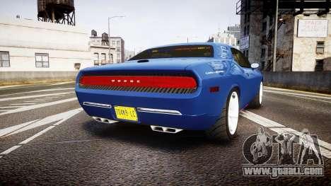 Dodge Challenger RT 2006 Pursuit Vehicle [ELS] for GTA 4 back left view