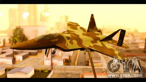 F-22 Raptor Desert Camouflage for GTA San Andreas