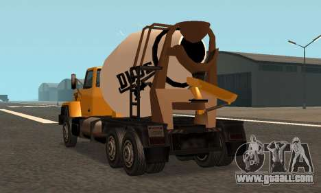 Cement Truck Fixed for GTA San Andreas
