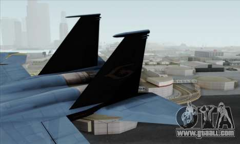 McDonnell Douglas F-15D Eagle GRDF for GTA San Andreas back left view