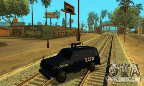 Beta FBI Truck for GTA San Andreas side view