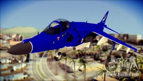 GR-9 Royal Navy Air Force for GTA San Andreas back view