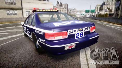 Chevrolet Caprice 1994 LCPD Auxiliary [ELS] for GTA 4 back left view