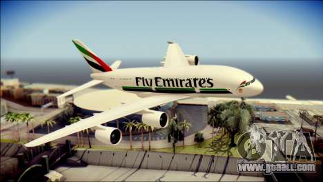 Airbus A380-800 Fly Emirates Airline for GTA San Andreas