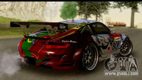 Porsche 911 GT3 RSR 2007 Flying Lizard for GTA San Andreas left view