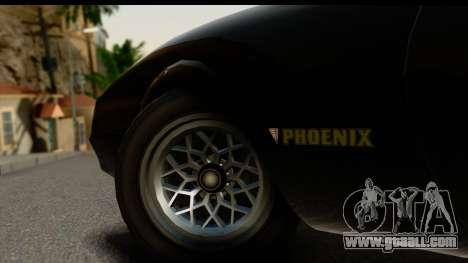 GTA 5 Imponte Phoenix IVF for GTA San Andreas inner view