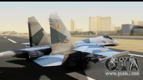 SU-35BM Yuktobanian Air Force for GTA San Andreas left view