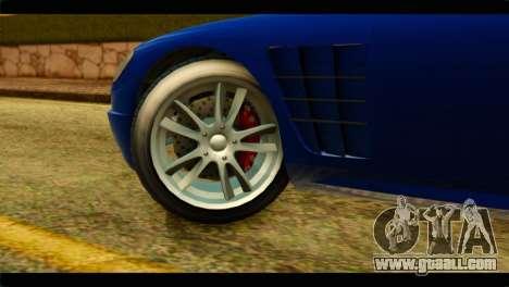 GTA 5 Ocelot F620 for GTA San Andreas back left view