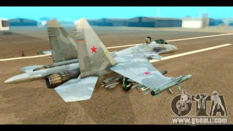 SU-37 Terminator Russian AF Camo for GTA San Andreas left view
