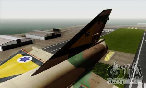 Dassault Mirage III AFI for GTA San Andreas back left view