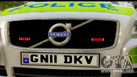 Volvo V70 Kent Police for GTA San Andreas back left view