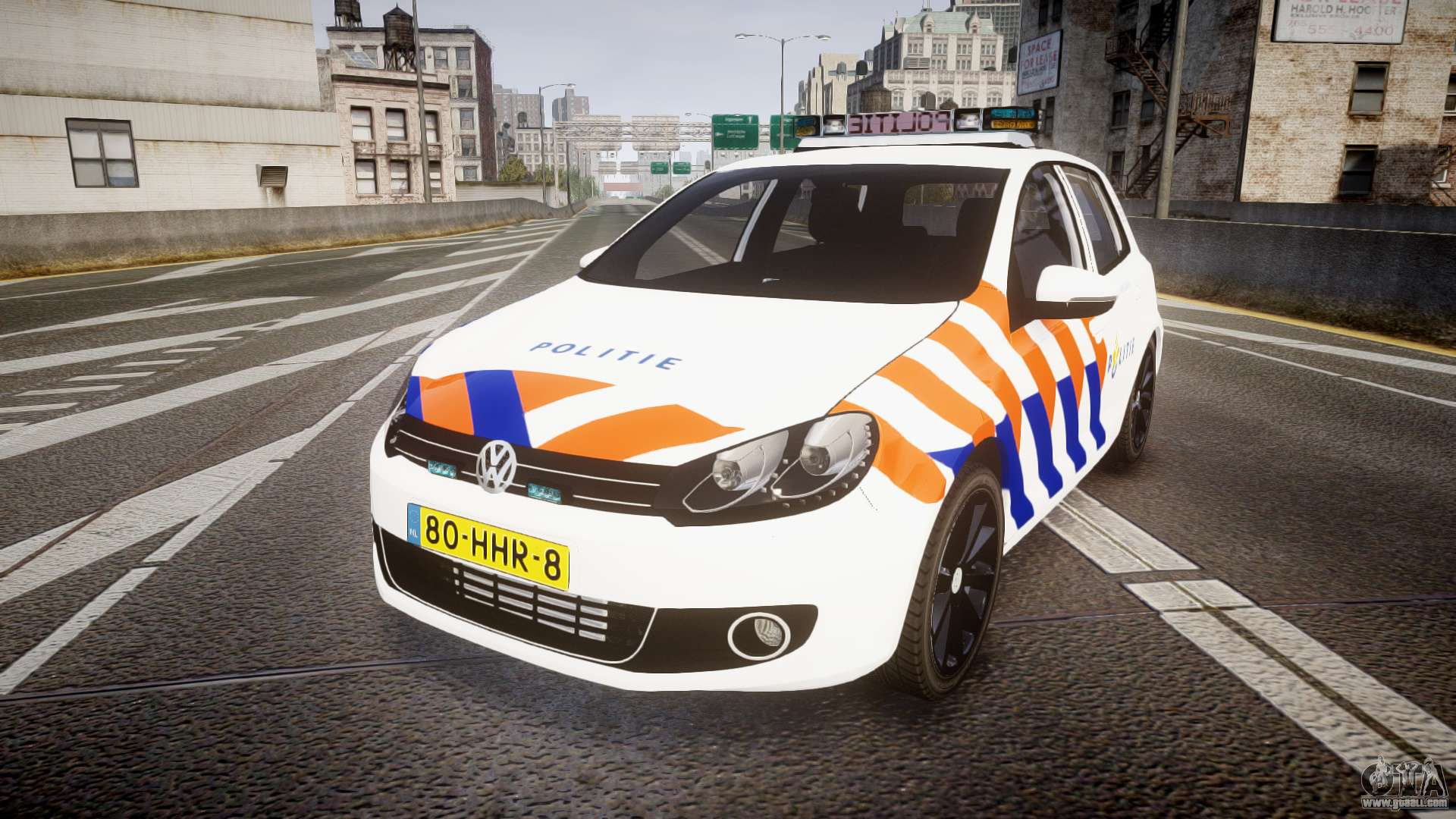 Volkswagen Golf Mk6 Dutch Police Els For Gta 4