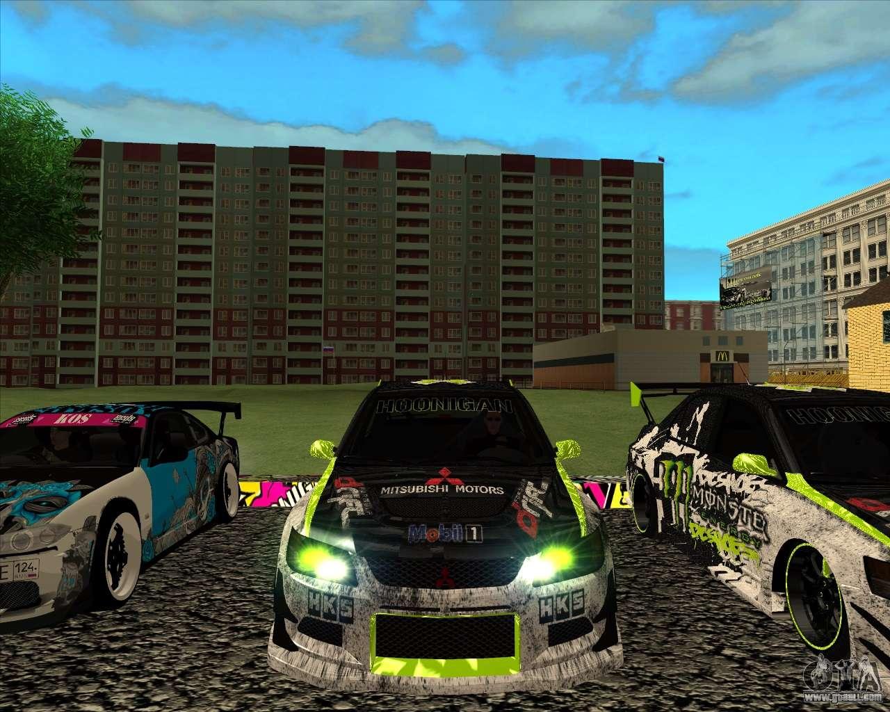 Mitsubishi Lancer Evolution IX Monster Energy DC For GTA San Andreas Left  View