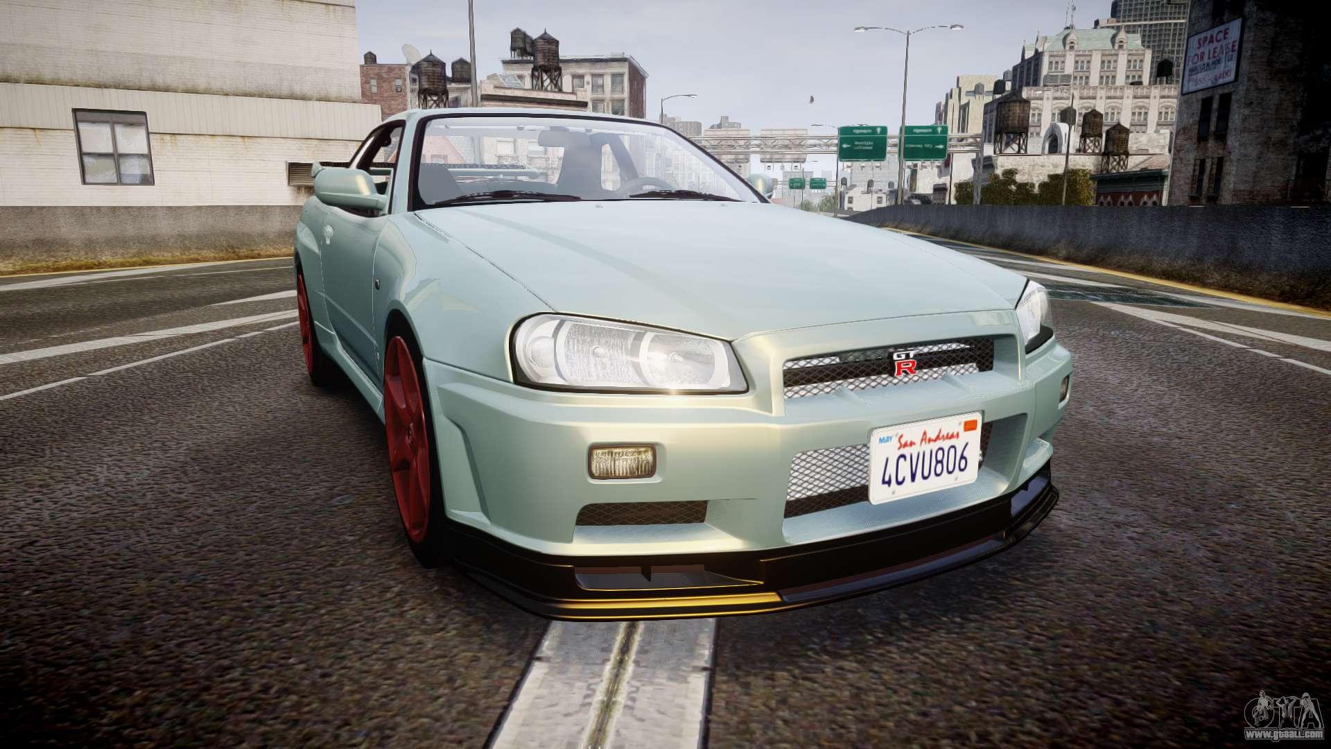 Nissan Skyline R34 Gt R M Spec Nur For Gta 4
