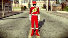 Power Rangers Kyoryu Red Skin