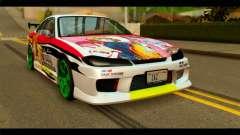 Nissan Silvia S15 Drift Hirasawa Yui Itasha for GTA San Andreas