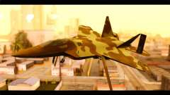 F-22 Raptor Desert Camouflage for GTA San Andreas