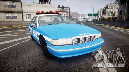 Chevrolet Caprice 1993 LCPD Without Hubcabs ELS for GTA 4