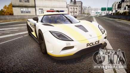 Koenigsegg Agera 2013 Police [EPM] v1.1 PJ1 for GTA 4