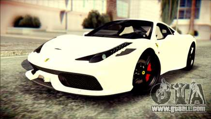Ferrari 458 Speciale 2015 HQ for GTA San Andreas