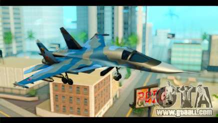SU-34 Fullback Russian Air Force Camo Blue for GTA San Andreas