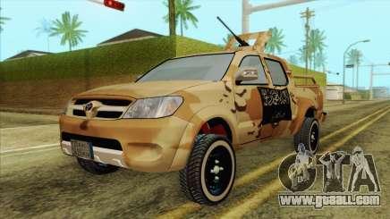 Toyota Hilux Siria Rebels for GTA San Andreas