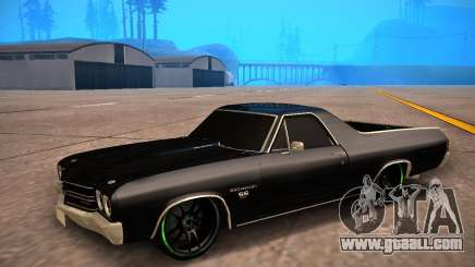 Chevrolet El Camino SS Green Hornet for GTA San Andreas