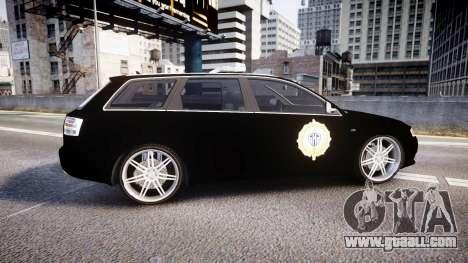 Audi S4 Avant Serbian Police [ELS] for GTA 4 left view