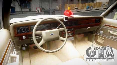 Ford LTD Crown Victoria 1987 Detective [ELS] v2 for GTA 4 back view