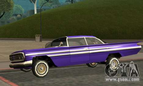 Luni Voodoo Remastered for GTA San Andreas bottom view