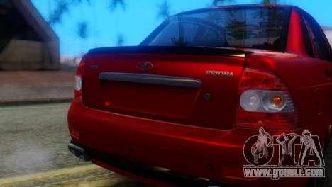 VAZ 2170 AMG for GTA San Andreas back view
