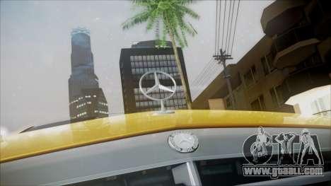 Mercedes-Benz E63 for GTA San Andreas back view