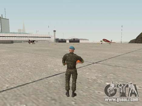The airborne soldier of Ukraine for GTA San Andreas third screenshot