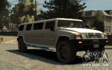 Mammoth Patriot Limousine for GTA 4 right view