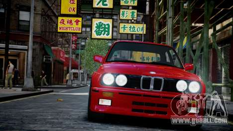BMW M3 E30 for GTA 4 back view