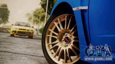 Subaru Impreza WRX STI 2008 PJ for GTA San Andreas right view