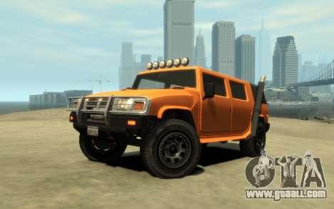 Mammoth Patriot Pickup v2 for GTA 4 inner view
