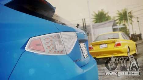 Subaru Impreza WRX STI 2008 PJ for GTA San Andreas back view