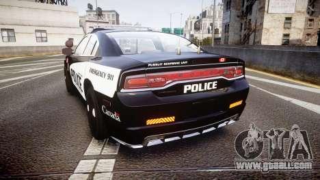 Dodge Charger Alderney Police for GTA 4 back left view