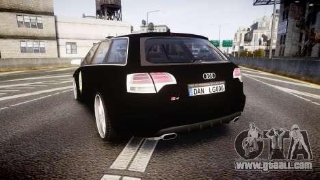 Audi S4 Avant Serbian Police [ELS] for GTA 4 back left view