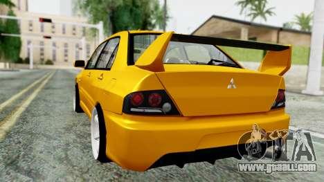 Mitsubishi Lancer Evolution IX for GTA San Andreas left view