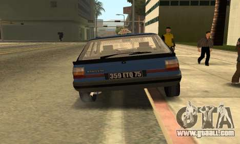 Renault 11 TXE Taxi for GTA San Andreas back view