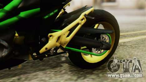 Kawasaki Z800 Modified for GTA San Andreas back view
