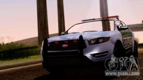 GTA 5 Vapid Police Interceptor v2 SA Style for GTA San Andreas right view
