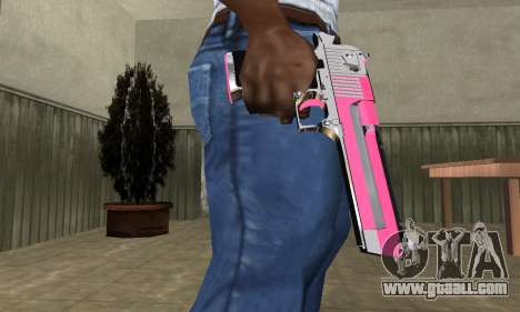 Pink Deagle for GTA San Andreas