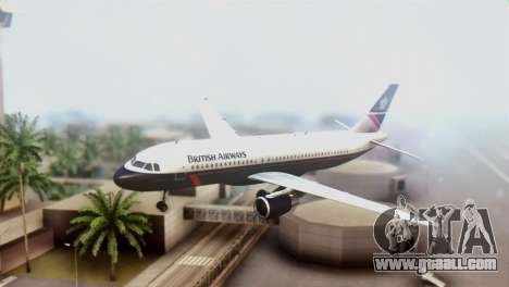 Airbus A320-200 British Airways for GTA San Andreas