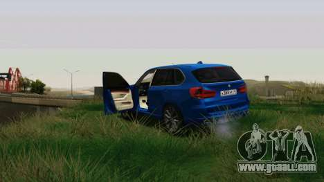 BMW X5 F15 2014 for GTA San Andreas inner view