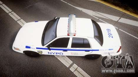 Ford Crown Victoria NYPD [ELS] for GTA 4 right view