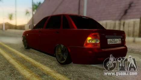 Lada Priora Sedan for GTA San Andreas left view